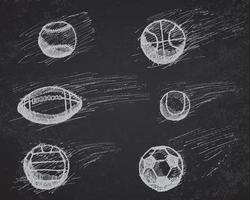schizzo di palla impostato con ombra ed effetto dinamico vettore