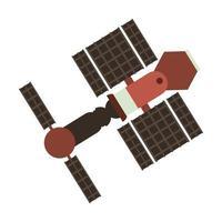 icona della tecnologia satellitare spaziale vettore