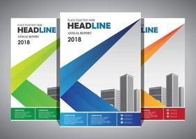 volantino modello di progettazione per la relazione annuale di layout di copertina