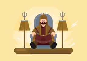 Illustrazione mongola vettore