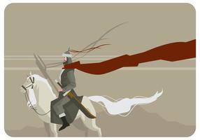 vettore del cavaliere mongolo