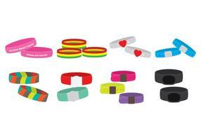 Set di icone braccialetti