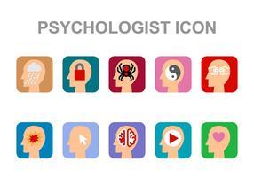 Vettore dell'icona dello psicologo