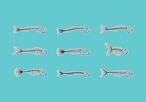 Vettore scheletrico di pesce