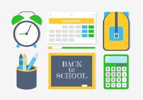 Elementi e icone vettoriali gratis di ritorno a scuola