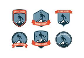 rappel badge vettoriali gratis