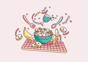Vettore delizioso del dessert di piantaggine