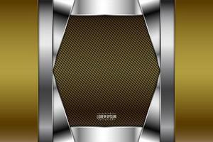 sfondo metallico moderno oro e argento vettore