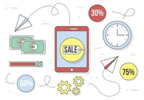 Icone e elementi di business vettoriali gratis Design piatto