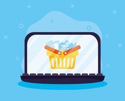 acquisti online ed e-commerce tramite laptop