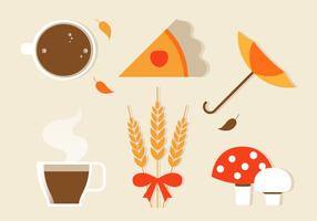 Icone e elementi autunnali vettoriali gratis