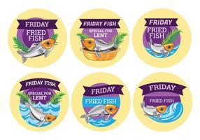 Illustrazione del venerdì Fried Fish. Speciale per la Quaresima vettore