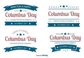 Collezione di etichette Columbus Day 2017