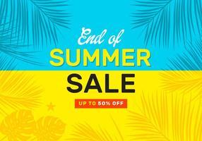 Manifesto di vettore di vendita di fine estate
