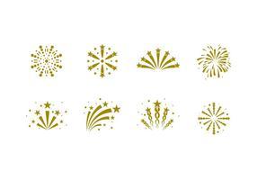Vettore libero dei fuochi d'artificio dell'icona solida