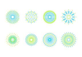 Fuochi d'artificio della linea arte vettoriali gratis