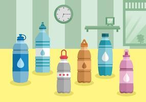 Confezione di bottiglie di plastica con tappi
