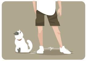 gatto legato il tuo vettore di scarpe