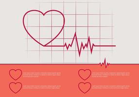Illustrazione del ritmo cardiaco gratis vettore