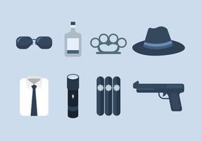 Icona di vettore di agenti segreti della mafia