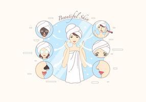 Vettore di Infographic di trattamento di brufolo