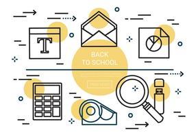 Elementi vettoriali Linear Back To School