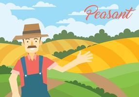 Illustrazione vettoriale contadino