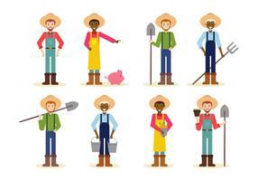 vettore di contadino dei cartoni animati