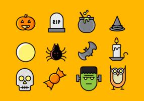 Pacchetto di Halloween vettore
