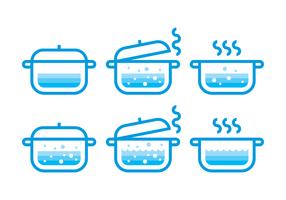 Vettore dell'acqua bollente