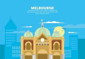 Illustrazione di Melbourne vettore