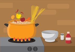 Cucinare il vettore di zuppa