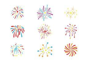 Pacchetto di vettore di fuochi d'artificio