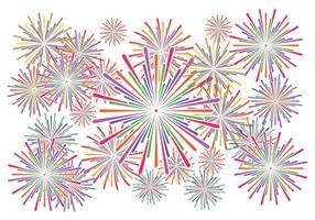 Vettore bianco del fondo dei fuochi d'artificio