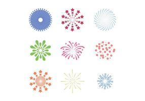 Set di vettori di fuochi d'artificio