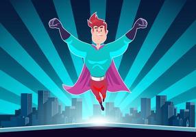 Super eroe in azione vettoriale
