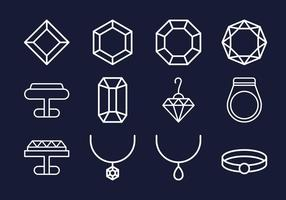 Collezioni di icone di gioielli vettore