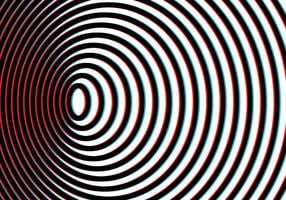 sfondo di illusione arte vertigini vettore