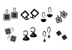 Jewerly gratuito e accessori icone vettoriali