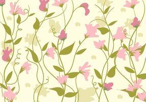 Modello di sfondo di fiori di pisello dolce