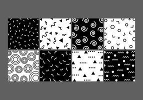 Squiggle e Basic Memphis Style Pattern vettore