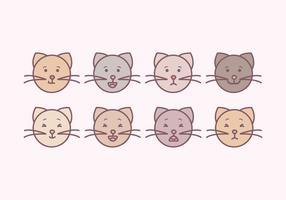 Emoticon di gatti carino vettoriale
