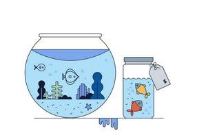 Fishtank vettoriale gratuito