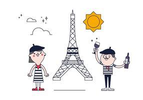 Vettore gratuito di Parigi