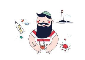Vettore libero del marinaio