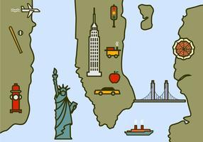 Mappa di New York vettore