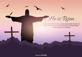 Illustrazione di Gesù risurrezione vettore