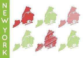 Vettore iconico libero della mappa di New York
