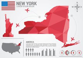 Mappa di New York Infografica vettore
