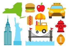 Vettore libero delle icone di New York